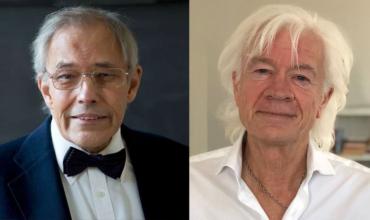 foredrag med Lars Muhl og Holger Bech Nielsen i Grenå, Danmark