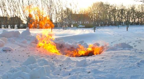 Ilden i sneen